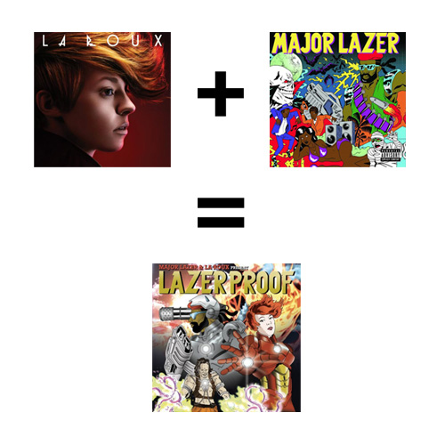 La Roux + Major Lazer = Lazerproof