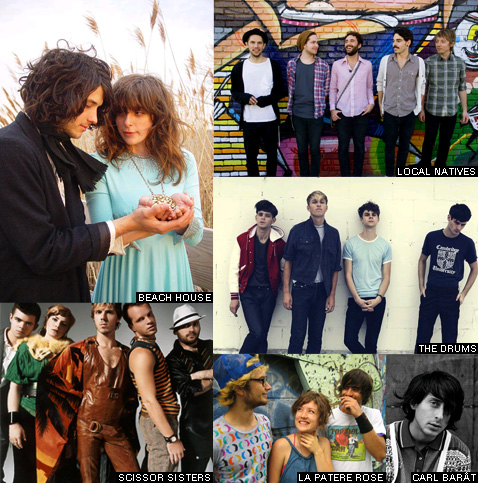 Festival des Inrocks 2010 - Beach House, The Drums, Local Natives, Scissor Sisters, La patère rose, Carl Barat