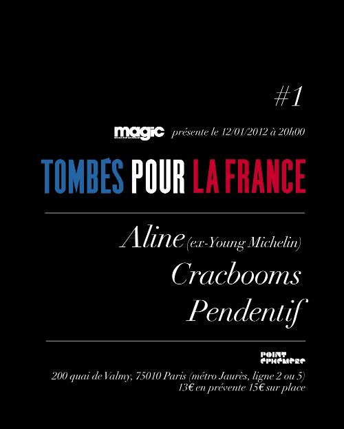 'Tombés Pour La France' avec Aline, Cracbooms et Pendentif
