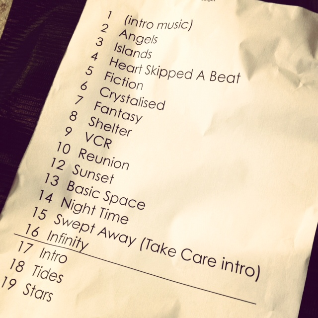 The XX @ Route du Rock - Tracklist