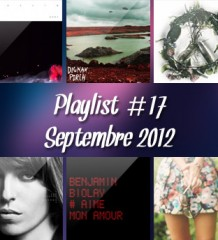 Playlist #17 : Septembre 2012