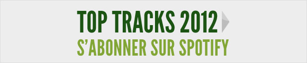 Top Tracks 2012 sur Spotify
