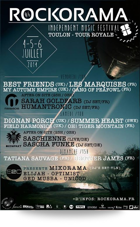 Rockorama Festival #6 : 4/5/6 juillet 2014