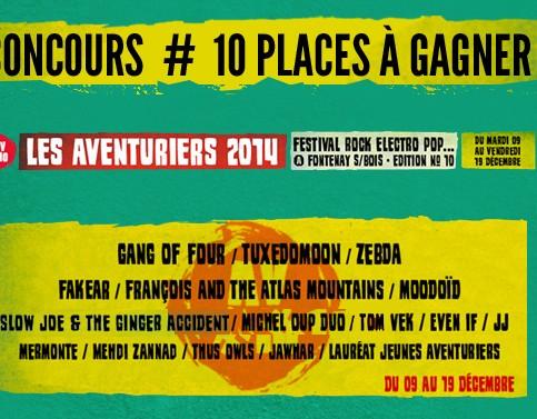 [CONCOURS] Gagnez 10 places pour le festival Les Aventuriers