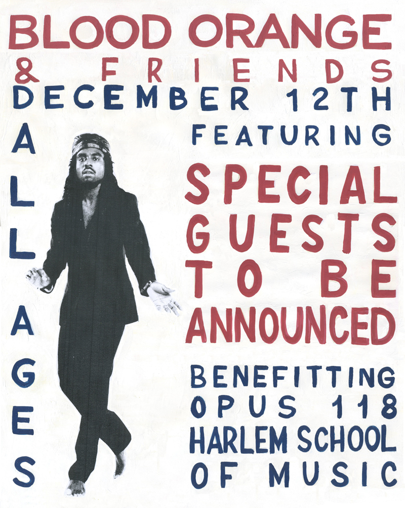Blood Orange & Friends, December 12th, featuring special guests / Benefitting Opus 118 Harlem School