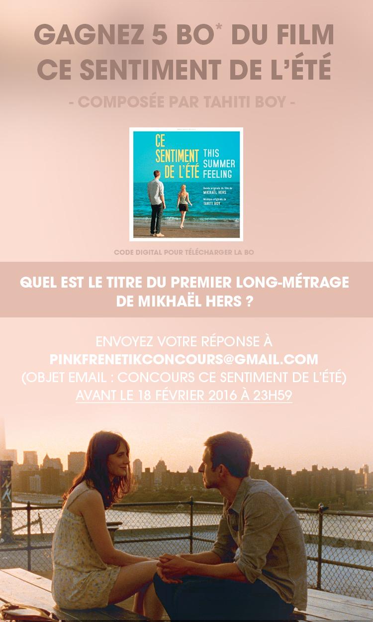 Gagnez la BO du film Ce sentiment de l'été de Mikhaël Hers