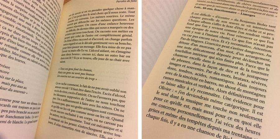 [LIRE] Benjamin Biolay, paroles de fans - Jérémy Attali