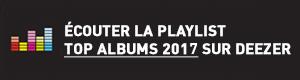 Ecouter la playlist Top Tracks 2016 sur Deezer
