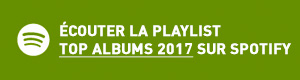 Ecouter la playlist Top Tracks 2016 sur Spotify